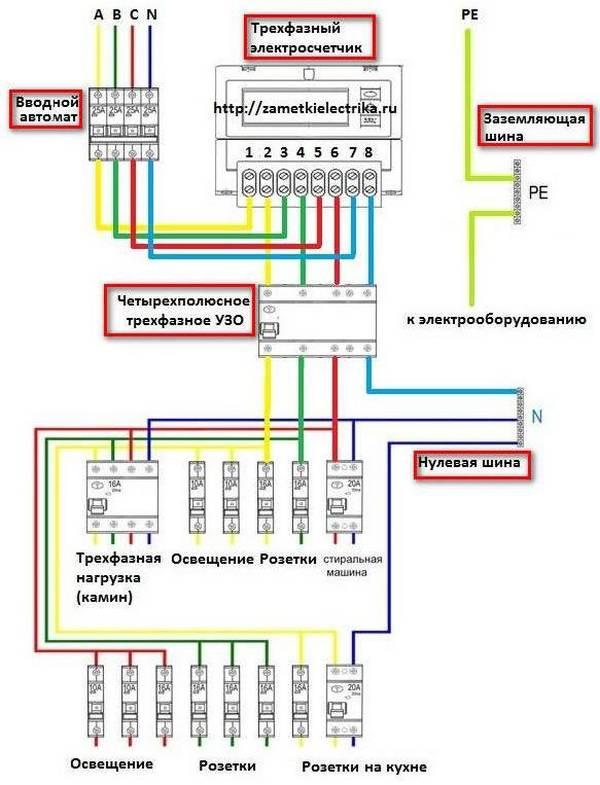 Электросчетчики день ночь схема подключения