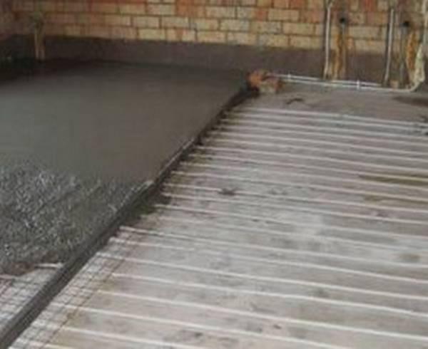 Как сделать стяжку пола под теплый пол